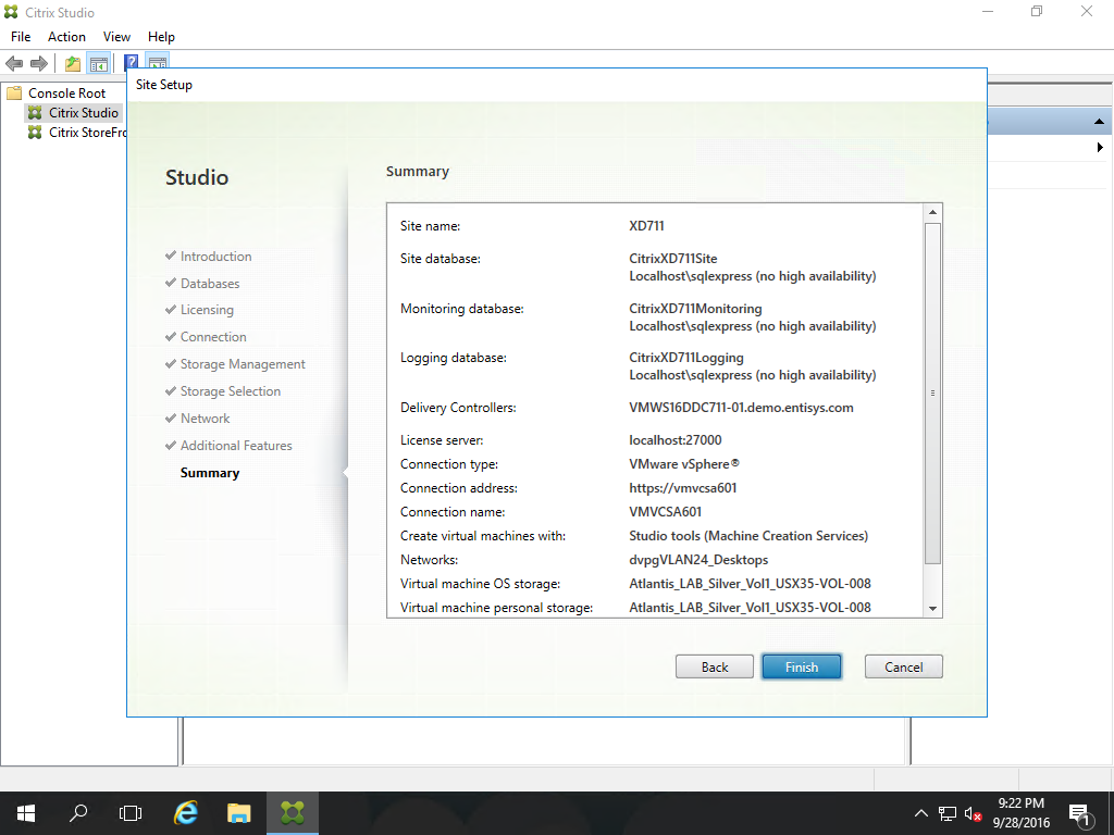 Citrix Xenappxendesktop 711 Proof Of Concept Installation And