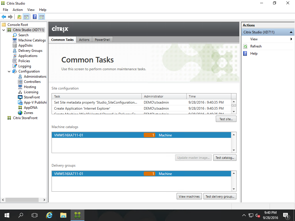 Citrix XenApp/XenDesktop 7 11 Proof of Concept Installation and