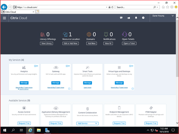 Is Getting Started with Windows Server 2019 and Citrix Cloud